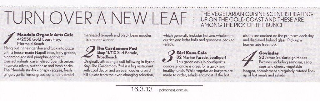 Giri Kana Cafe in GC Bulletin